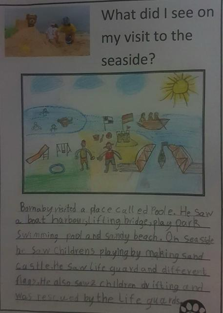 What Barnaby Bear saw at the seaside!