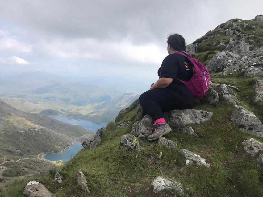 Miss Halliwell at the top of Mount Snowdon!