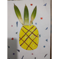 Mathea's pineapple - she used real pineapple leaves!