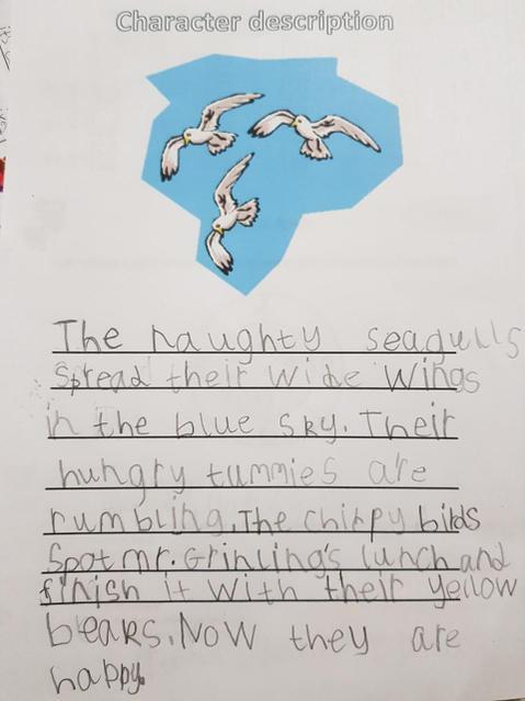 A great description of the seagulls.