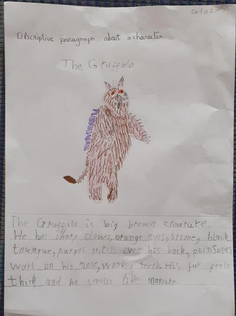 Fabulous description of the Gruffalo!