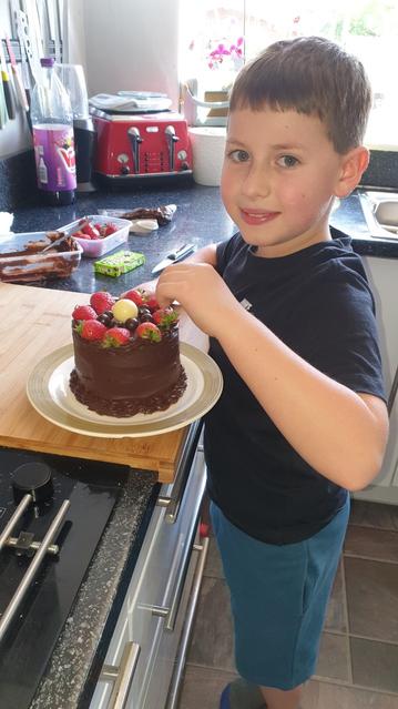A delicious cake for a lucky Nan! :)