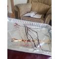 Homemade twig raft!