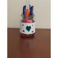 A homemade pencil pot!