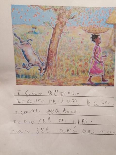 Writing about Handa.