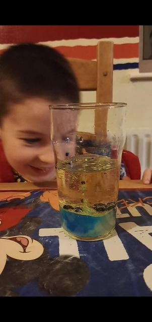 Look at my science experiment!