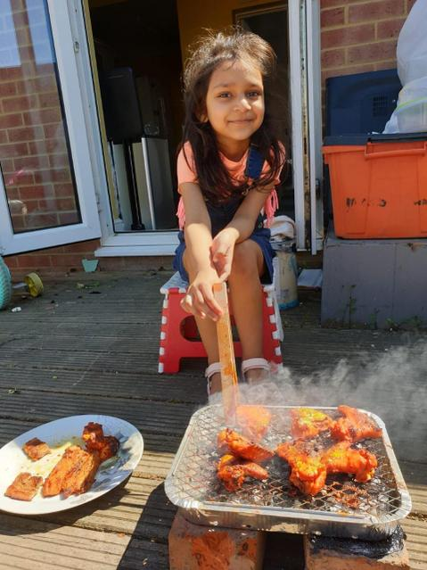 Yummy BBQ in the sunshine!