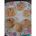 Yummy chocolate chip cookies!