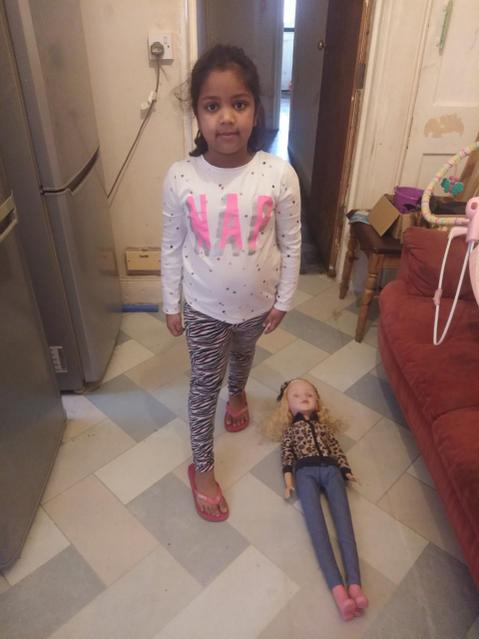 Measuring the length of my doll!