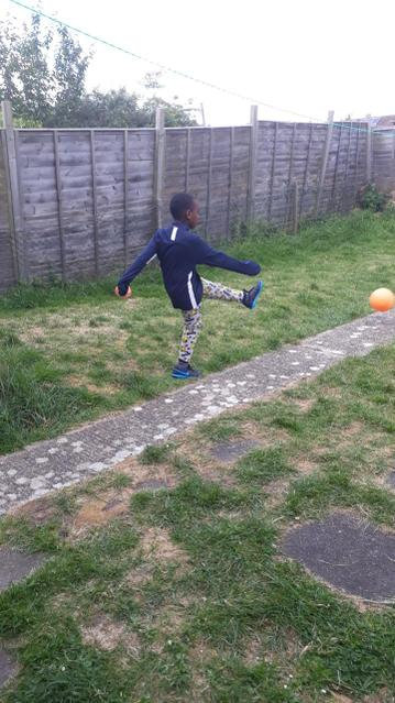 Football in the garden