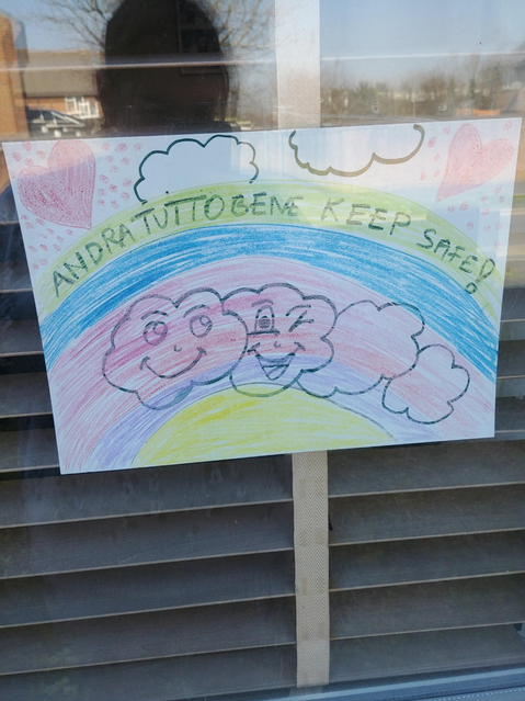 Rainbow trail poster brightening up the window! :)