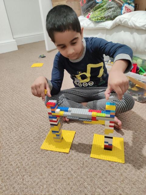 Look at my Lego bridge!
