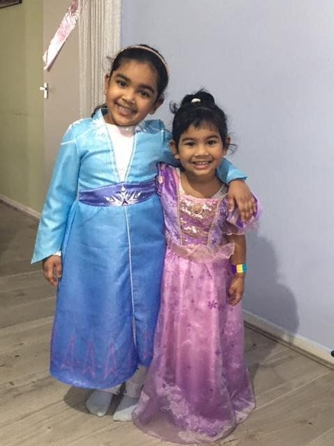 I dressed up with my sister for World Book Day.