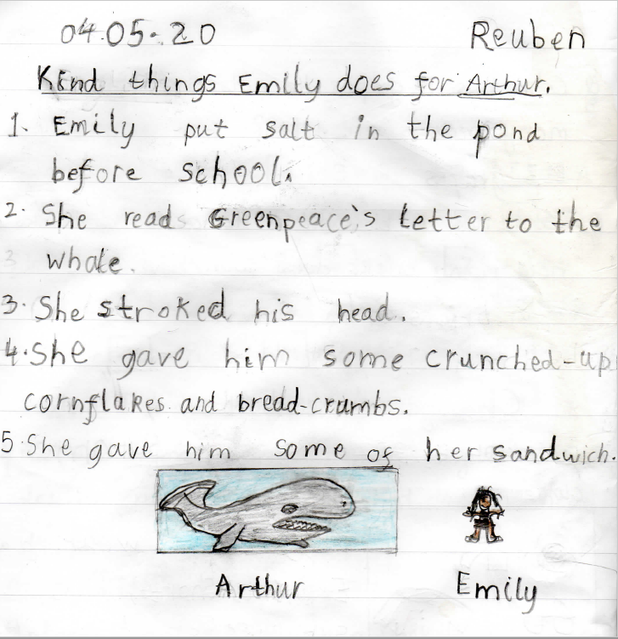 How Emily was kind to the whale.