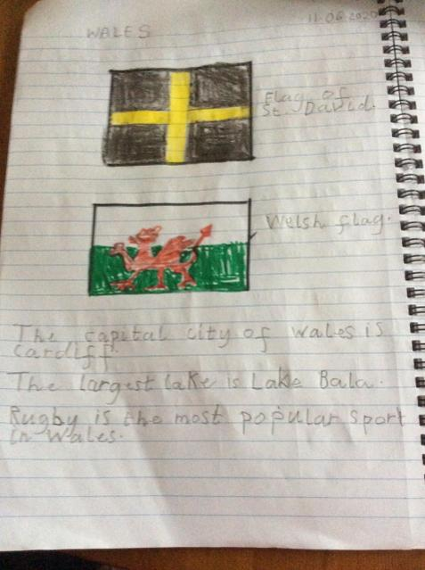 Finding out about Wales.