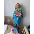 A huge abstract mask! Well done :)