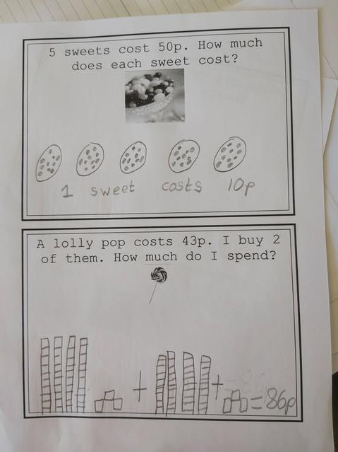 Maths using a written method