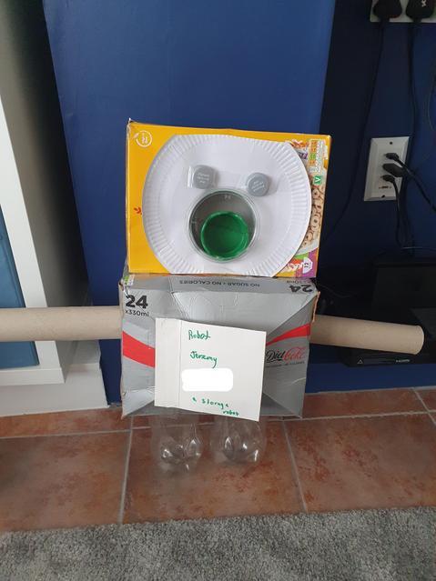 Meet junk modelled Robot Jeremy-the storage robot!