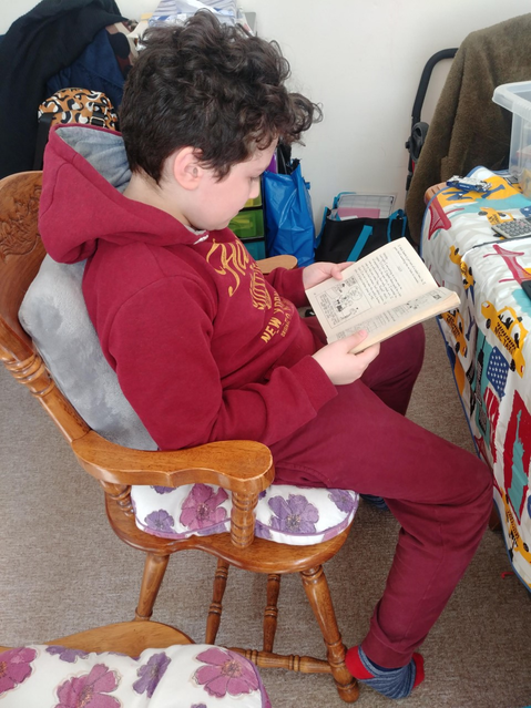 Reading at home! :)