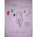 A lovely handmade birthday card! :)