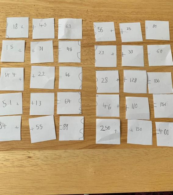 Maths jigsaw game