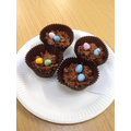 Delicious cakes made by the children at school