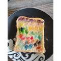 Some brilliant rainbow toast by Thomas and Tiffany
