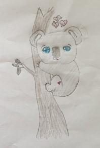 A fantastic drawing of a koala! :)