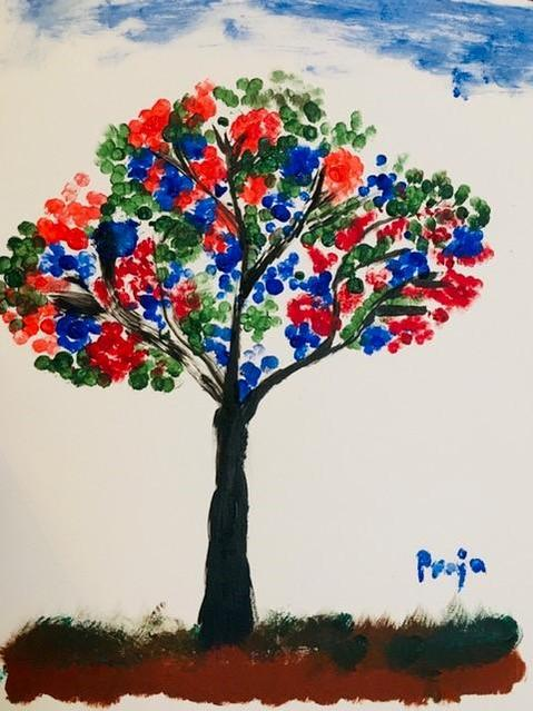 Rainbow tree for the NHS