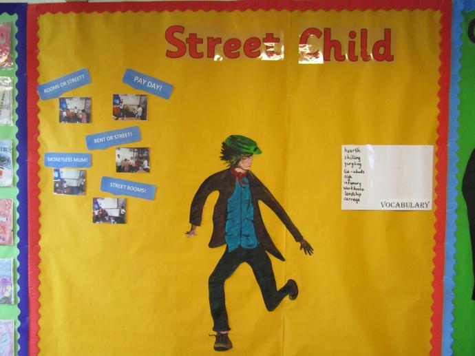 Street Child display board