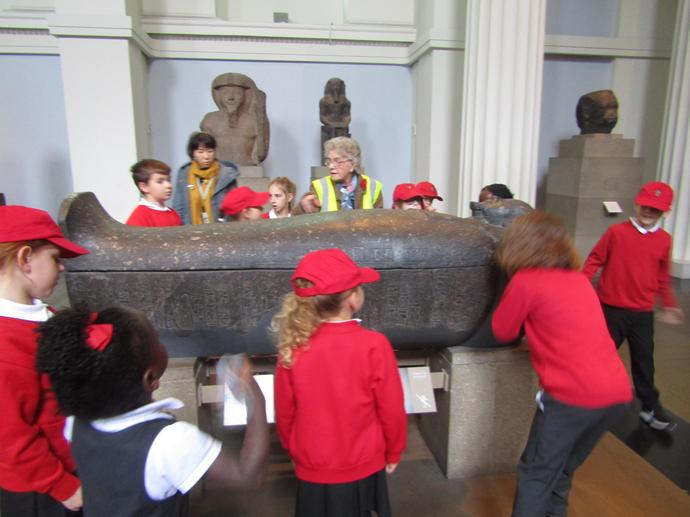 An Egyptian sarcophagus
