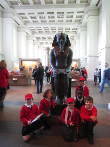 We saw some amazing Ancient Egyptian statues