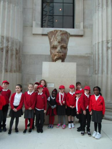 We all had a fantastic time at the British Museum.