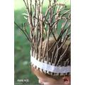 make a stick crown