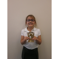 Nevaeh has earned a trophy horseriding!