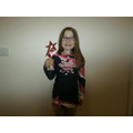 Alissa earned a trophy in cheerleading!