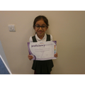 Well done Khushi for earning grade 7 in gymnastics