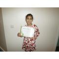 Xanna earned level 4 in gymnastics!