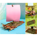 Make a stick boat