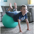 If you have an exercise ball use to balance