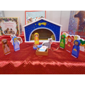 Our wooden small world nativity
