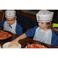 Reception Class visit Pizza Express