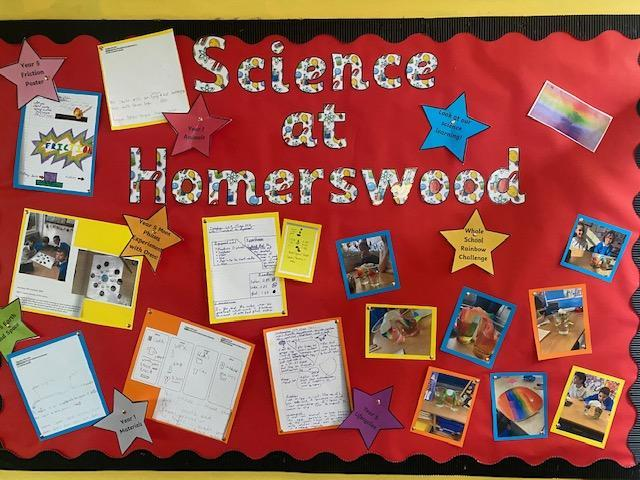 Look at our new display board (just by KS1 and the library) celebrating our science work