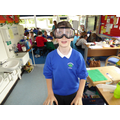 Trying out 'drinking goggles'