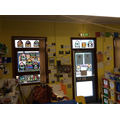 Reception made stained glass windows