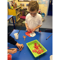 The children decorated poppies.