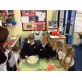 The children made poppy shortbread biscuits.