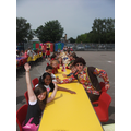 Ks2 Street Party Lunch looking groovy!