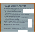 Frogs class charter (Mrs Smith and Mrs Thompson's)