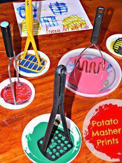 Printing with a Potato Masher